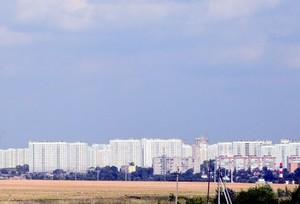 вид на Подольск - дорога в Поливаново