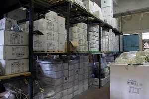 Часть складского помещения Пермская - стелажи