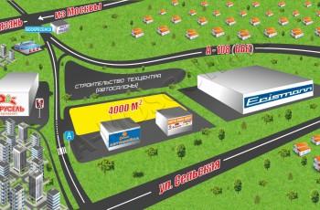 Схема расположения земельного участка в Воскресенском районе